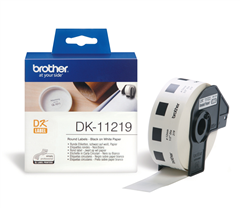 BROTHER DK-11221 WHITE DIECUT SQUARE 23 X 23MM PAPER LABEL ROLL 1000