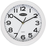 CARVEN WALL CLOCK 250MM WHITE