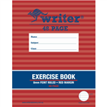 WRITER EXERCISE BOOK FEINT RULED 8MM 60GSM 48 PAGE 225 X 175MM