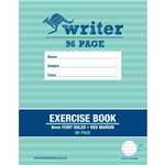 WRITER EXERCISE BOOK FEINT RULED 8MM 60GSM 96 PAGE 225 X 175MM