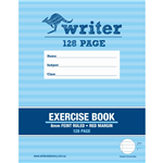 WRITER EXERCISE BOOK FEINT RULED 8MM 60GSM 128 PAGE 225 X 175MM