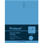 PROTEXT EXERCISE BOOK RULED 8MM 70GSM 48 PAGE 225 X 175MM SPIDER ASSORTED