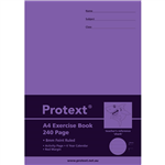 PROTEXT EXERCISE BOOK RULED 8MM 70GSM 240 PAGE A4 SHARK ASSORTED