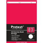 PROTEXT E3 PREMIUM EXERCISE BOOK RULED 8MM 70GSM 96 PAGE A4 ASSORTED