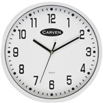 CARVEN WALL CLOCK 225MM WHITE