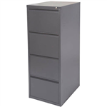 INITIATIVE FILING CABINET 4 DRAWER 475 X 600 X 1320MM GRAPHITE RIPPLE
