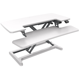 RAPID FLUX ELECTRIC HEIGHT ADJUSTABLE DESK RISER 880 X 415MM WHITE
