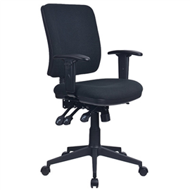 INITIATIVE REJUVENATE ERGONOMIC HIGH BACK CHAIR WITH ARMS BLACK