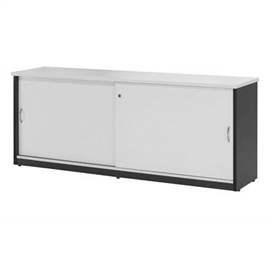 OXLEY CREDENZA 1500 X 450 X 730MM WHITE/IRONSTONE